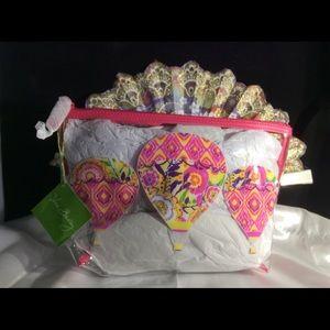 Brand New! Vera Bradley Clear Beauty Bag
